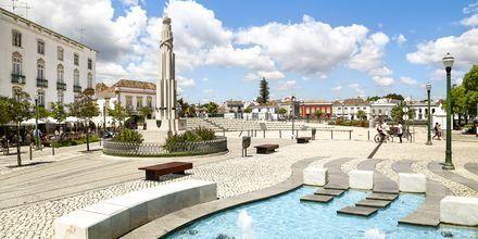 Tavira på Algarvekusten, Portugal.