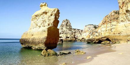 Praia da Marinha på Algarvekusten, Portugal