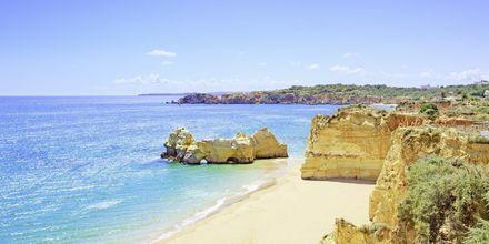 Praia da Rocha på Algarvekusten, Portugal.