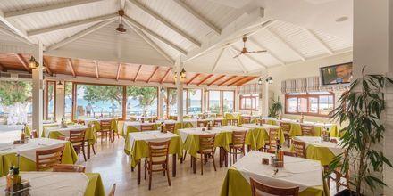 Restaurang på hotell Alianthos Beach i Plakias på Kreta, Grekland.