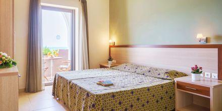 Dubbelrum på hotell Alianthos Beach i Plakias på Kreta, Grekland.