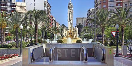 Tunnelbana i Alicante, Spanien.