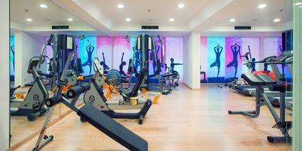 Gym på hotell Alimounda Mare på Karpathos, Grekland.