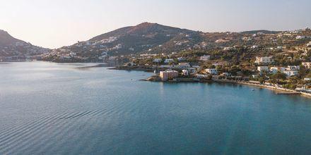 Utsikter över Leros, Grekland.