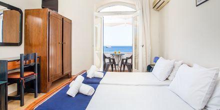 Dubbelrum på hotell Alinda på Leros, Grekland.