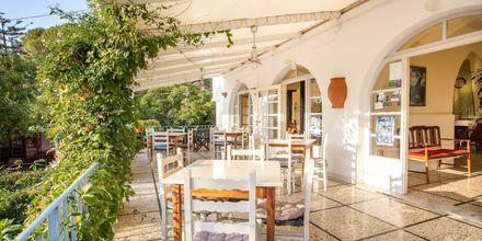 Restaurang på hotell Alinda på Leros, Grekland.