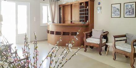 Reception på hotell Alkyon på Santorini i Grekland.
