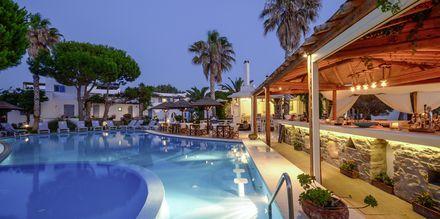 Hotell Alkyon Beach i Naxos stad, Grekland.
