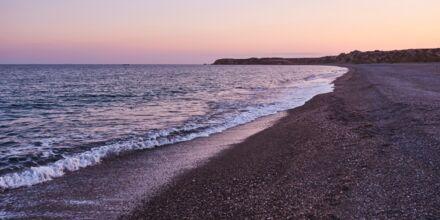 Strand vid hotell Almyra Hotel & Village i Ierapetra på Kreta, Grekland.