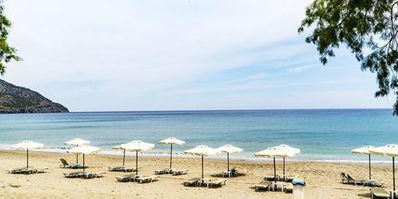 Stranden vid Almyra Village på Karpathos.