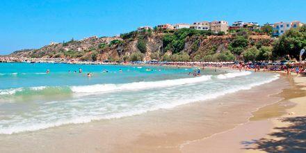 Stranden i Almyrida på Kreta.