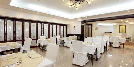 Restaurangen på Almyrida Beach på Kreta.