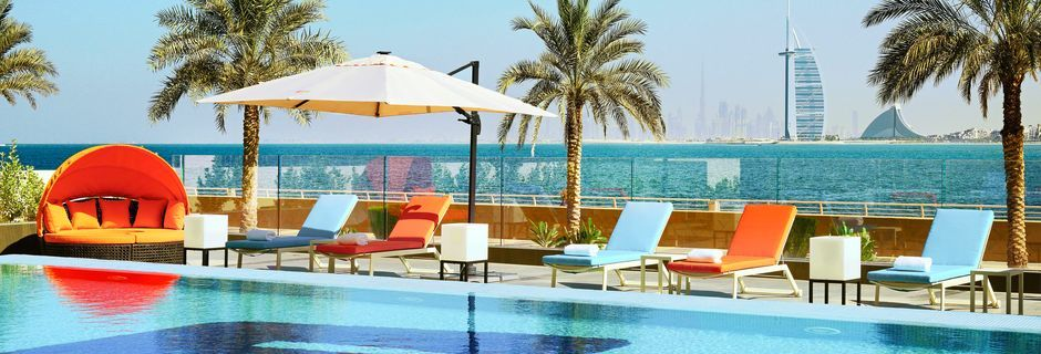 Splash, poolområdet på hotell Aloft Palm Jumeirah, Dubai.