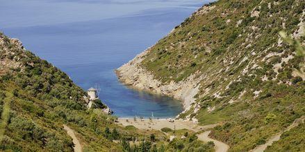 Gialiastranden på Alonissos i Grekland.