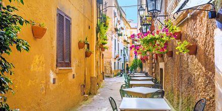 Uteservering på Amalfikusten, Italien.