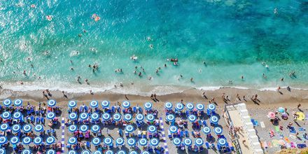Strand på Amalfikusten.