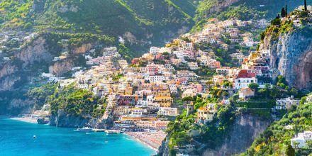 Positano på Amalfikusten, Italien.