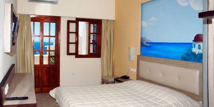 Dubbelrum på hotell Amopi Bay på Karpathos.