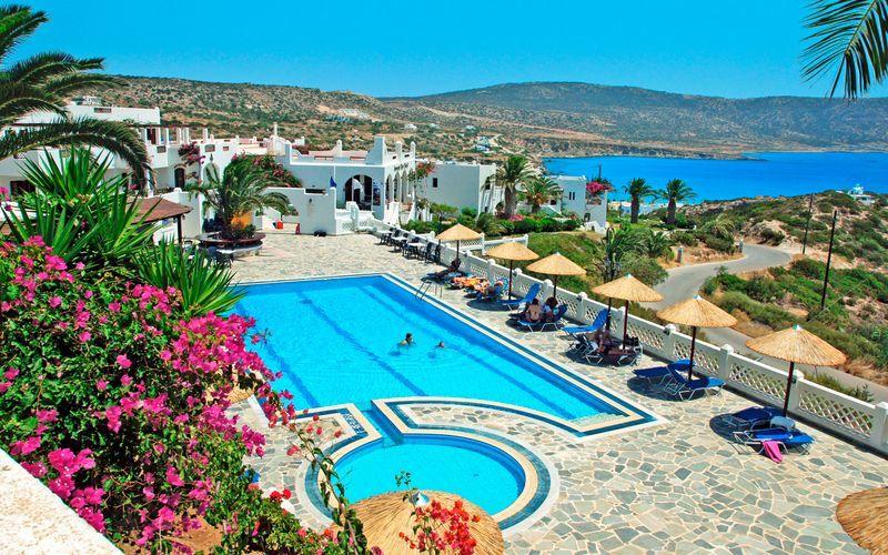 Hotell Amopi Bay på Karpathos.