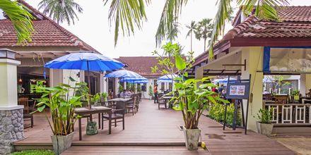 Café på på Amora Beach Resort i Bangtao Beach på Phuket.