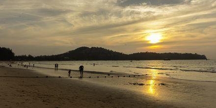 Stranden vid Amora Beach Resort i Bangtao Beach på Phuket.