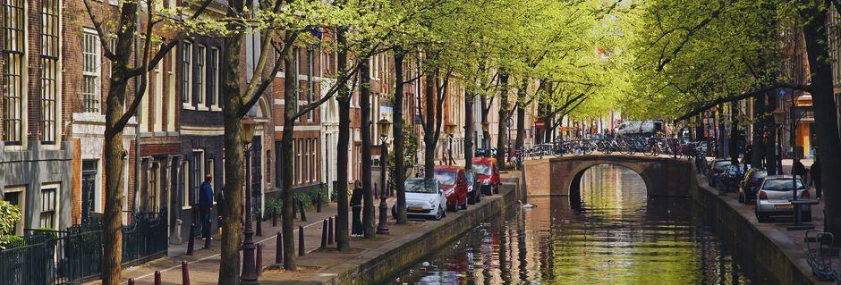 Huvudstaden Amsterdam är en fantastiskt vacker stad.