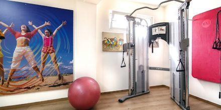 Gym på hotell Anais Holiday i Agii Apostoli på Kreta, Grekland.