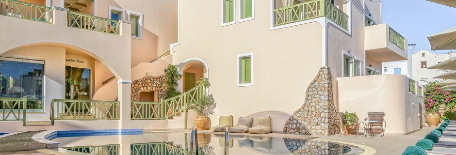 Hotell Anassa i Kamari, Santorini.