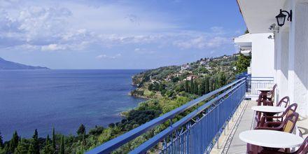 Dubbelrum på hotell Andromeda i Samos stad i Grekland.