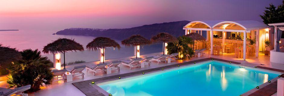 Hotell Andromeda Villas i Caldera på Santorini, Grekland.