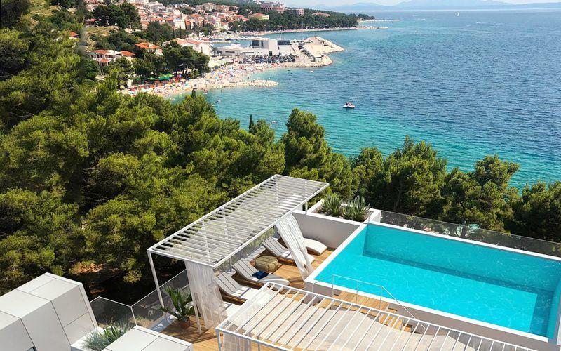 Skissbild på hotell Anna Noemia i Baska Voda, Kroatien.