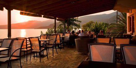 Restaurang på hotell Anniska i Kardamili, Grekland.