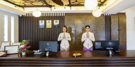 Receptionen på hotell Aonang Princeville Villa Resort & Spa i Krabi, Thailand.