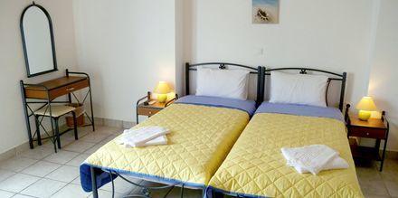 Dubbelrum på hotell Apollon på Milos i Grekland.