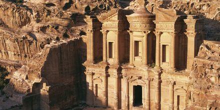 Klostret al-Deir i staden Petra i Jordanien.
