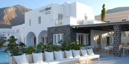 Hotell Aqua Blue i Perissa på Santorini, Grekland.