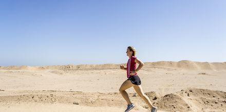 Omkring hotell Aqua Vista finns det sträckor som är bra för löpning.