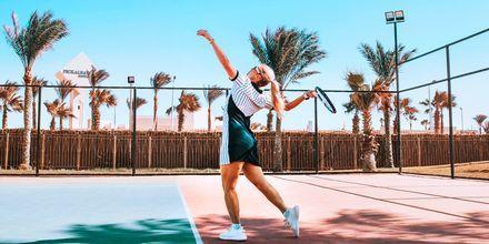 Tennis på hotell Aqua Vista i Hurghada, Egypten.