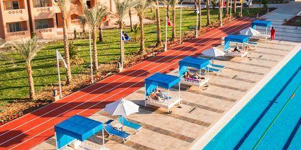Sprintbanan på hotell Aqua Vista i Hurghada, Egypten.