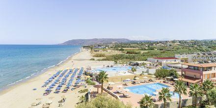 Stranden vid hotell Aquamar på Kreta, Grekland.