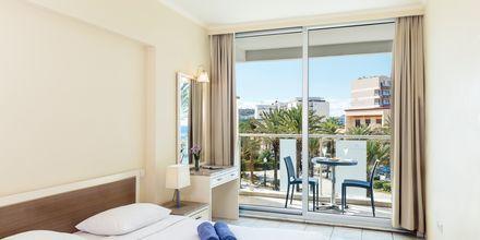 Dubbelrum på hotell Aquarium View i Rhodos stad, Grekland.