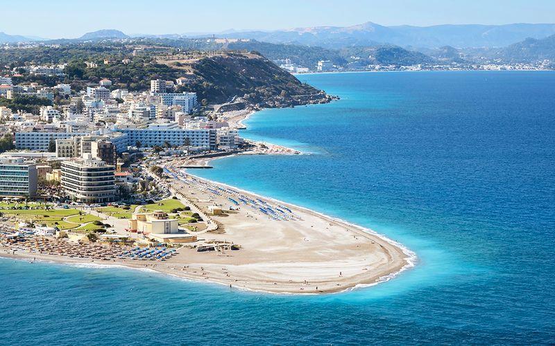 Hotell Aquarium View i Rhodos stad, Grekland.
