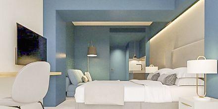 Två/trerumslägenhet i etage på hotell Aquarius i Rethymnon, Kreta.