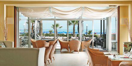 Café på hotell Aquila Porto Rethymno på Kreta, Grekland.