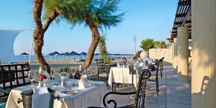À la carte-restaurang på hotell Aquila Rithymna Beach på Kreta, Grekland.