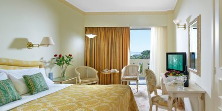 Dubbelrum på hotell Aquila Rithymna Beach på Kreta, Grekland.