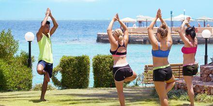 Yoga på hotell Arabella Azur Resort i Hurghada, Egypten.