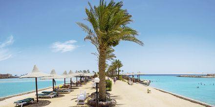 Stranden vid Arabia Azur Resort i Hurghada, Egypten.