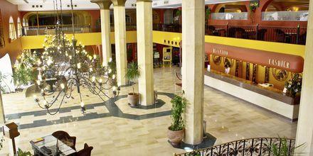 Receptionen på hotell Arabia Azur Resort i Hurghada, Egypten.