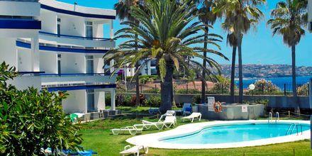 En av poolerna på hotell Arco Iris i Playa del Ingles på Gran Canaria.